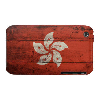 Old Wooden Hong Kong Flag iPhone 3 Cover