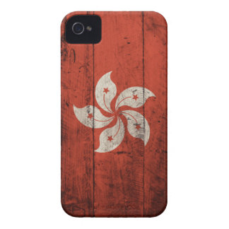 Old Wooden Hong Kong Flag iPhone 4 Case-Mate Case