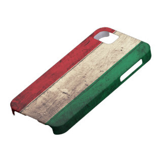 Old Wooden Hungary Flag iPhone SE/5/5s Case