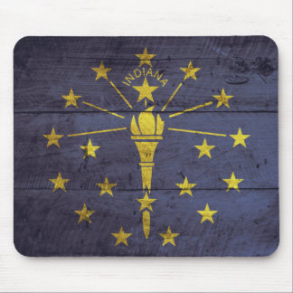 Old Wooden Indiana Flag; Mouse Pad