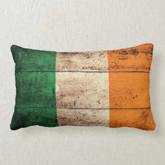 Old Wooden Ireland Flag Pillows