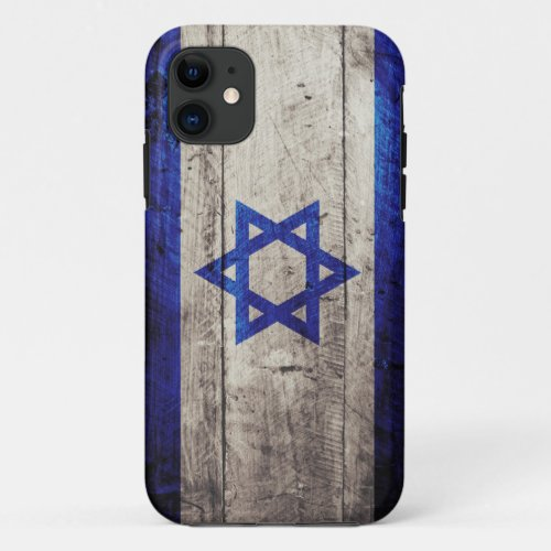 Old Wooden Israel Flag Phone Case
