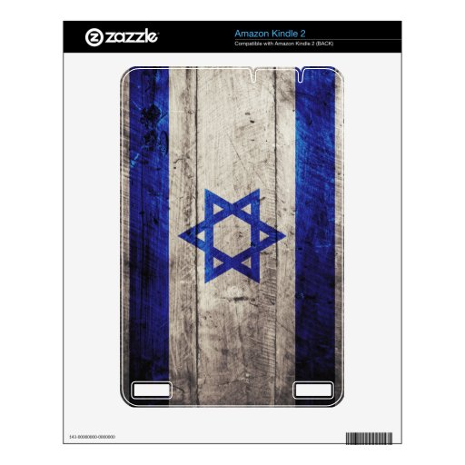 Old Wooden Israel Flag; Kindle Decals