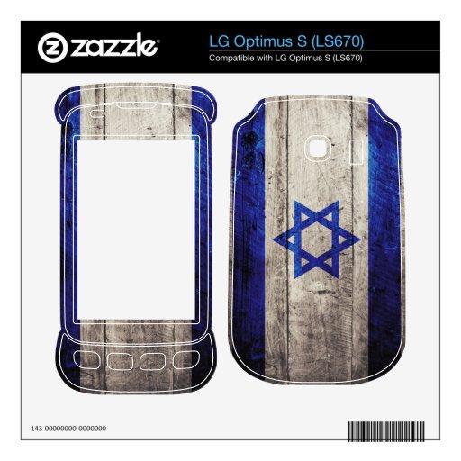 Old Wooden Israel Flag; LG Optimus S Skin