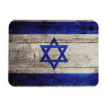 Old Wooden Israel Flag Rectangular Magnets