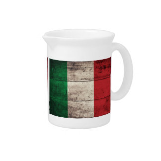 Old Wooden Italian Flag; Drink Pitchers
