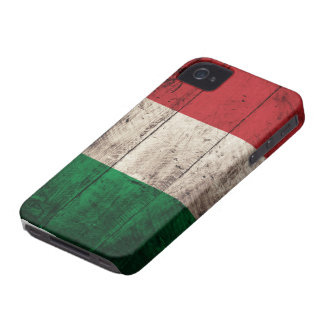 Old Wooden Italy Flag iPhone 4 Cases