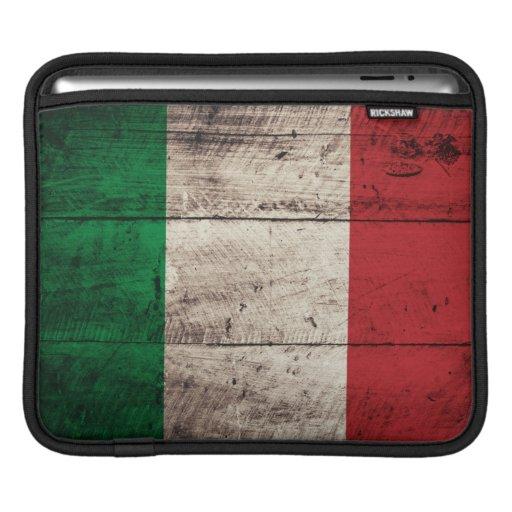 Old Wooden Italy Flag iPad Sleeves