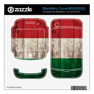 Old Wooden Italy Flag; BlackBerry Curve Decals