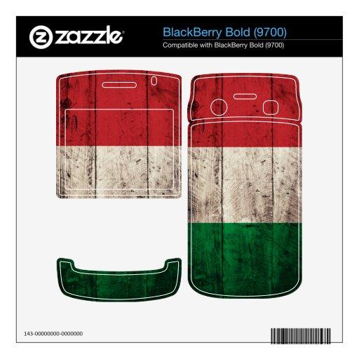 Old Wooden Italy Flag; Skin For BlackBerry Bold