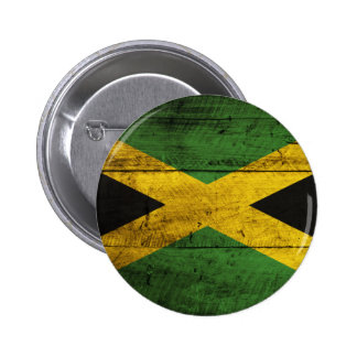 Old Wooden Jamaica Flag Button