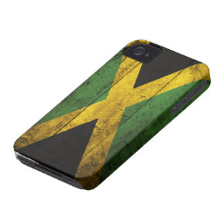 Old Wooden Jamaica Flag iPhone 4 Case-Mate Case