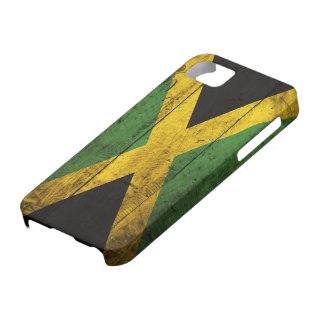 Old Wooden Jamaica Flag iPhone SE/5/5s Case
