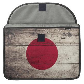 Old Wooden Japan Flag MacBook Pro Sleeves