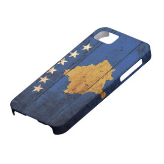 Old Wooden Kosovo Flag iPhone SE/5/5s Case