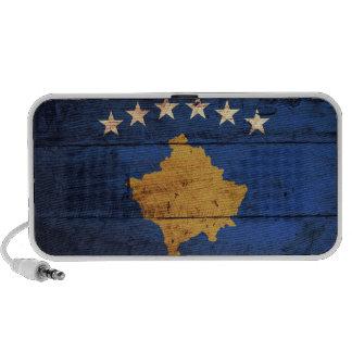 Old Wooden Kosovo Flag Portable Speaker