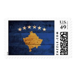 Old Wooden Kosovo Flag Postage