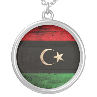 Old Wooden Libya Flag Jewelry