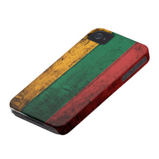 Old Wooden Lithuania Flag Case-Mate iPhone 4 Case