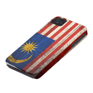 Old Wooden Malaysia Flag iPhone 4 Cover