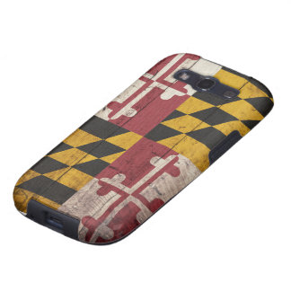 Old Wooden Maryland Flag Samsung Galaxy S3 Case