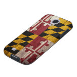 Old Wooden Maryland Flag Galaxy S4 Case