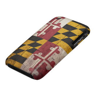 Old Wooden Maryland Flag iPhone 3 Cover
