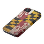 Old Wooden Maryland Flag iPhone 4 Case-Mate Case