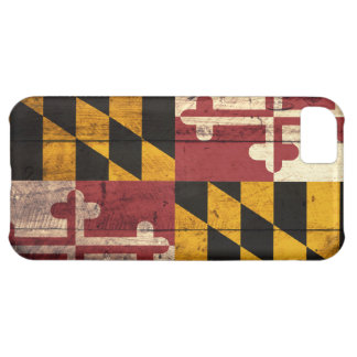 Old Wooden Maryland Flag iPhone 5 Case