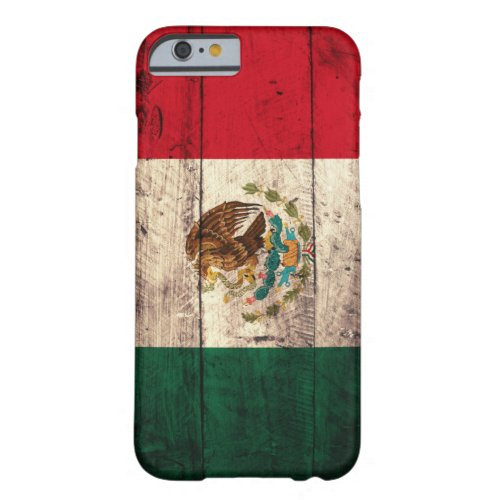 Old Wooden Mexico Flag Phone Case