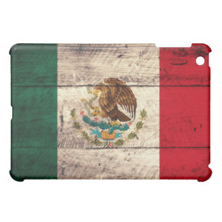Old Wooden Mexico Flag iPad Mini Cover