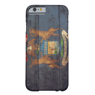 Old Wooden Michigan Flag iPhone 6 Case
