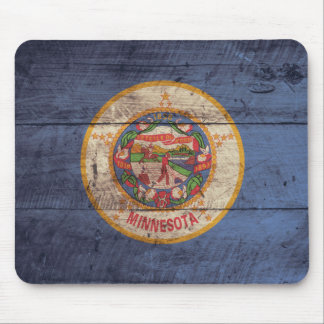 Old Wooden Minnesota Flag; Mouse Pad