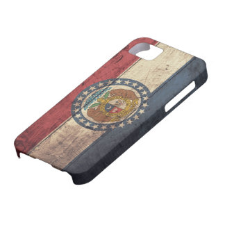 Old Wooden Missouri Flag; iPhone 5 Cases