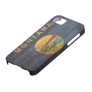 Old Wooden Montana Flag; iPhone 5 Covers
