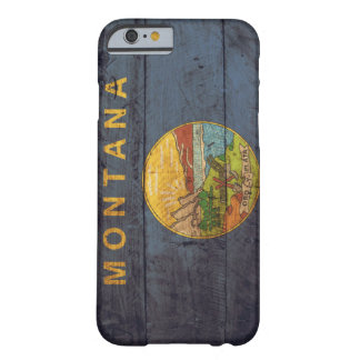 Old Wooden Montana Flag; iPhone 6 Case