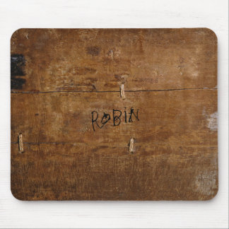 """Old """"Wooden"""" Mousepad with (or without) your Name"""