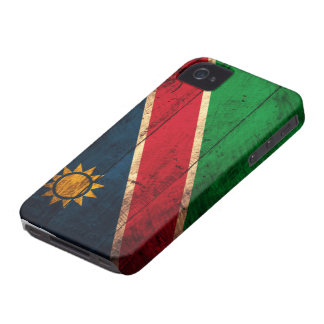 Old Wooden Namibia Flag Case-Mate iPhone 4 Case