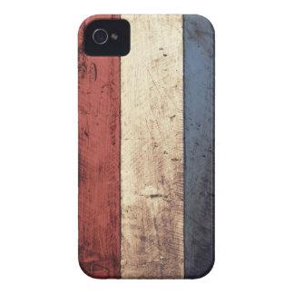 Old Wooden Netherlands Flag iPhone 4 Case-Mate Case
