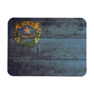 Old Wooden Nevada Flag; Magnet