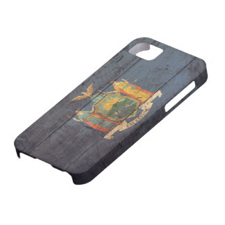 Old Wooden New York Flag; iPhone 5 Cases