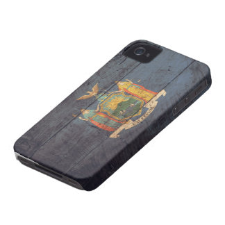 Old Wooden New York Flag; iPhone 4 Cover