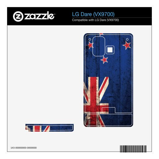 Old Wooden New Zealand Flag; Decal For LG Dare