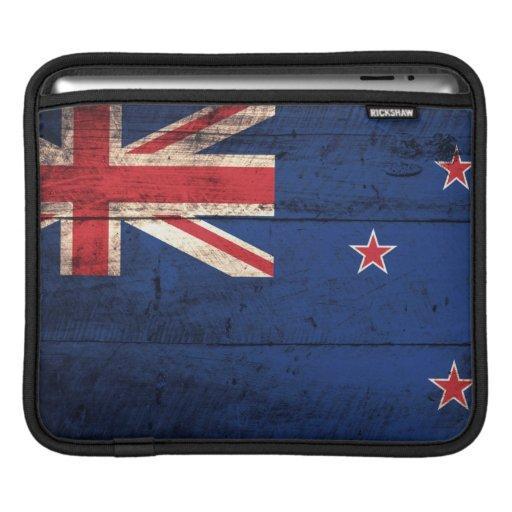 Old Wooden New Zealand Flag iPad Sleeve