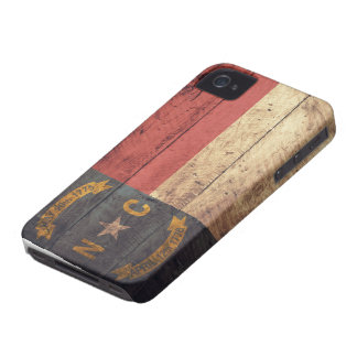 Old Wooden North Carolina Flag; iPhone 4 Case-Mate Cases