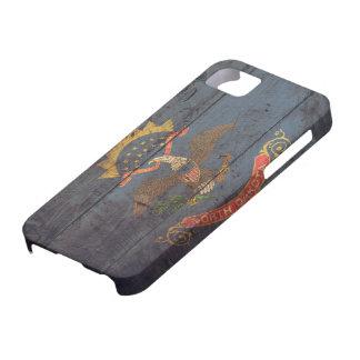 Old Wooden North Dakota Flag; iPhone SE/5/5s Case