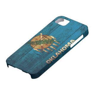 Old Wooden Oklahoma Flag; iPhone 5 Case