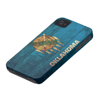 Old Wooden Oklahoma Flag; iPhone 4 Covers