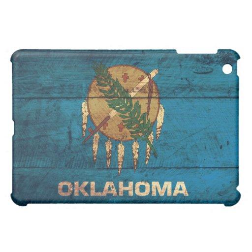 Old Wooden Oklahoma Flag; iPad Mini Case