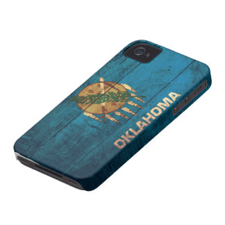 Old Wooden Oklahoma Flag; iPhone 4 Case-Mate Case